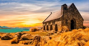 Church, Ancient, Landscape Stock Images
