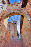 Church and ancient passage, Italy. Stock Photo