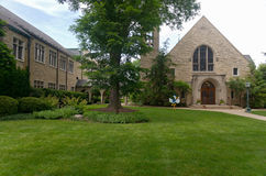 Free Church And Courtyard In Western Springs Royalty Free Stock Photography - 73931507