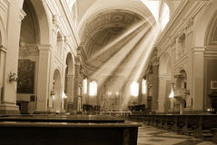 Church And Sun Beam Royalty Free Stock Image
