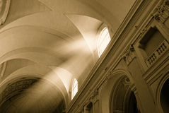 Church And Sun Beam Royalty Free Stock Images