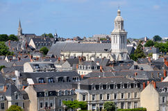 Church of Angers in France Stock Image