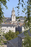 Church of Angers in France Stock Images