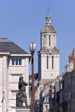 Church of Angers in France Royalty Free Stock Photos