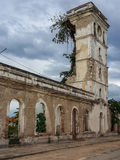 Church in Angola destroyed by the long civil war Royalty Free Stock Photo