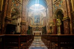 Inside the Church royalty free stock photo