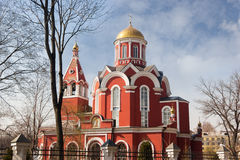 Church of the Annunciation of the Blessed Virgin in Petrovsky Park Stock Images