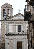 Church in the medieval village of Agnone Royalty Free Stock Photo