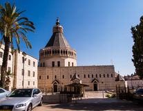 The Church of the Annunciation in Nazareth Stock Images