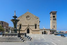 Church of the Annunciation. New Town. Rhodes Island. Greece Royalty Free Stock Photography