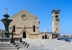 Church of the Annunciation. New Town. Rhodes Island. Greece Royalty Free Stock Images