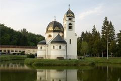 The church of the Annunciation in Pribic Crkveni. Pribic Crkveni is a settlement in Krasic municipality in the central Croatia. The church was built in 1911 royalty free stock photos