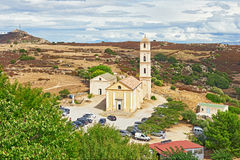 The Church of the Annunciation in Sant Antonino, Corsica royalty free stock image