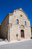 Church of Annunziata. Pietramontecorvino. Puglia. Royalty Free Stock Photo