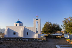 Church in Ano Koufonisi island, Cyclades, Greece Royalty Free Stock Photos