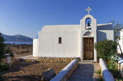 Church in Ano Koufonisi island, Cyclades, Greece Stock Photos