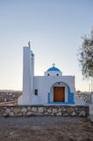 Church in Ano Koufonisi island, Cyclades, Greece Royalty Free Stock Image