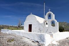 Church at antorini island in Greece Stock Photo