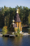 The Church of the Apostle Andrew on Vuoksa autumn day. Leningrad region Stock Photo