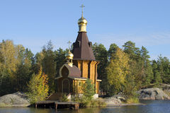 The Church of the Apostle Andrew on Vuoksa. Priozersky district, Leningrad region Royalty Free Stock Photography
