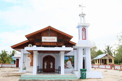 Church in Arborek. Christian church in turistic village Arborek (Raja Ampat, Papua Barat, Indonesia Royalty Free Stock Photos