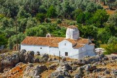 Church of Archangel Michael, Aradena, Crete. Church of Archangel Michael over Aradena George in Aradena, Crete Stock Image