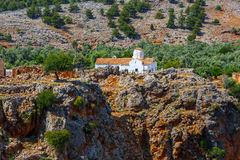 Church of Archangel Michael, Aradena, Crete. Church of Archangel Michael over Aradena George in Aradena, Crete Stock Photo