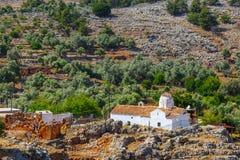 Church of Archangel Michael, Aradena, Crete. Church of Archangel Michael over Aradena George in Aradena, Crete Royalty Free Stock Images