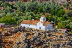 Church of Archangel Michael, Aradena, Crete. Church of Archangel Michael over Aradena George in Aradena, Crete Royalty Free Stock Photography