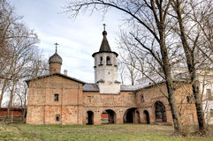 Church of the Archangel Michael and Church of the Annunciation. Veliky Novgorod Royalty Free Stock Photography