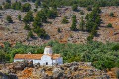 Church of Archangel Michael, Crete. Church of Archangel Michael over Aradena George in Aradena, Crete Royalty Free Stock Photos