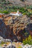 Church of Archangel Michael, Crete. Church of Archangel Michael over Aradena George in Aradena, Crete Stock Images