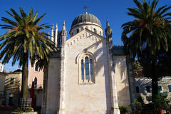 Church of Archangel Michael. The Orthodox Church in the historic quarter of the city of Herceg Novi (Montenegro Royalty Free Stock Images