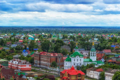 Church  Archangel Michael in Tobolsk  centre top view Royalty Free Stock Images