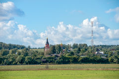 Church of Archangel Michael in the village of Mikhailovskoye Royalty Free Stock Photo