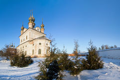 Church of Archangel Michael in winter Yuryev-Polsky. Church of Archangel Michael in Yuryev-Polsky winter in the snow royalty free stock photo
