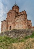 Church of the Archangels and Caucasus mountains in Kakheti. Georgia Stock Image