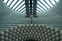 The church of architect Mario Botta at Mogno Royalty Free Stock Image