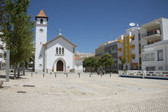 Church at Armacao de Pera in southern Portugal Stock Photo