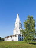Church of the Ascension and birch Stock Photos