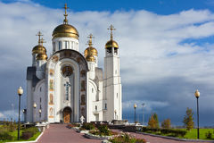 Church of the Ascension of the Christ. Orthodox Church of Magnitogorsk, Chelyabinsk, Chelyabinsk region, Russia royalty free stock images