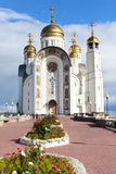 Church of the Ascension of the Christ. Orthodox Church of Magnitogorsk, Chelyabinsk, Chelyabinsk region, Russia stock photography