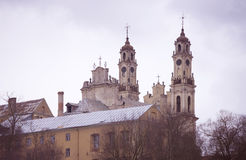 Church of Ascension on a cloudy day. Church of Ascension, Vilnius, Lithuania Stock Photography