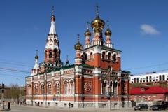 The Church of the ascension Feodosyevskaya Church in Perm. Rus Stock Photos