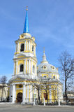 Church of the ascension on Gorokhovo field, street Radio, 2. Moscow Royalty Free Stock Image