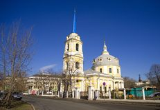 Church of the ascension on Gorokhovoe field Moscow Stock Photo