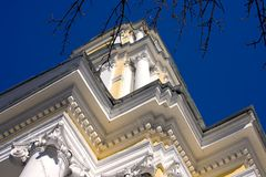 Church of the ascension on Gorokhovoe field Moscow Stock Photography