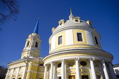 Church of the ascension on Gorokhovoe field Moscow Royalty Free Stock Photo