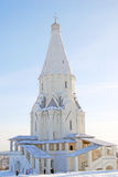 Church of the Ascension in Kolomenskoye, Moscow. Russia, in winter. UNESCO World Heritage Site. Taken on 27.01.2014 Royalty Free Stock Photos