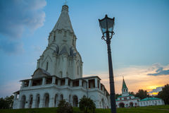 The Church of the ascension in Kolomenskoye, summer evening Stock Image